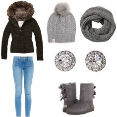 Winter by vidhip348 on Polyvore featuring polyvore fashion style Abercrombie & Fitch Frame Denim UGG Australia OroClone Check our selection  UGG articles in our shop!