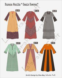 Dress Design Patterns, Dress Design Sketches, Baby Dress Design, Fashion Design Sketches, Clothing Patterns, Sewing Patterns, Dress Brokat Muslim, Muslim Dress, Hijab Fashion