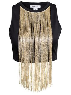 Nly One High Neck Fringetop Crop Top And Shorts, Crop Shirt, Crop Tops, Kpop Fashion Outfits, Stage Outfits, High Neck Shirts, Short Shirts, Short Tops, Black High Neck Top