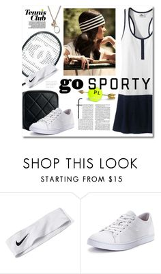"""""""Go Sporty!"""" by miee0105 ❤ liked on Polyvore featuring Chanel, NIKE, Lacoste and Marc Jacobs"""