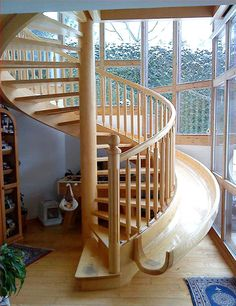 I'd love this in my dream house.  Even when I'm old, I'll still use the slide! Now, if I can just find a functional place for in an indoor swing set...