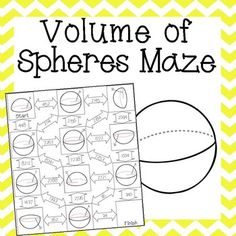Printables Volume Of Spheres Worksheet volume of spheres maze for the and worksheets this fun worksheet is perfect way to review 8 7a