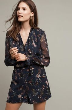 25b1b2895428 Details about New Anthropologie Botany Romper by Elevenses Retail  158  SMALL Blue