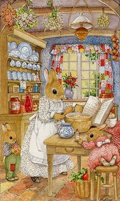 susan wheeler art – Yahoo Image Search Results - Easter Bunny Pictures Beatrix Potter, Art And Illustration, Rabbit Illustration, Susan Wheeler, Lapin Art, Art Fantaisiste, Art Mignon, Rabbit Art, Bunny Art