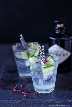 Hendricks, tonic and cucumber