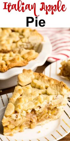 Homemade Italian Apple Pi / #Apple #Homemade #Italian Best Pumpkin Pie, Best Apple Pie, Pumpkin Pie Recipes, Cinnamon Recipes, Homemade Apple Pie Filling, Apple Filling, Recipe Using Apples, Apple Pie Bites, Apple Cinnamon Muffins