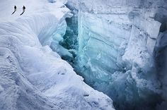 Icy canyon