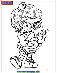 Original Strawberry Shortcake Character Coloring Page