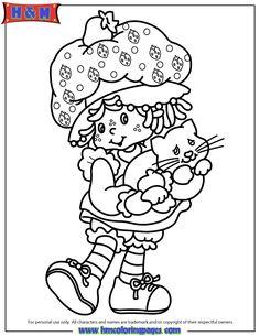 Original Strawberry Shortcake Character Coloring Page