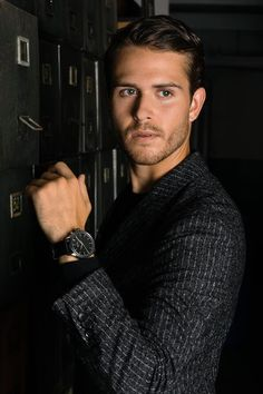 Campaign star Adam Gallagher wears the new BOSS Classic Smartwatch