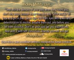 Let go off the past, look out for the future ahead.  #Quote #Mickeymize #liberate #past #life