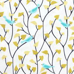 Cloud9 Fabric House & Garden 111702 Tweetly Tweet in Blue - jumble shop one