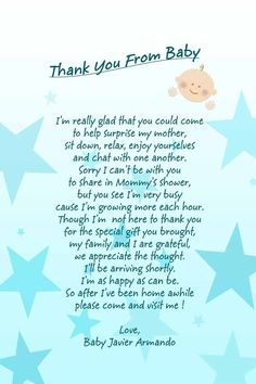 baby shower poems on pinterest baby shower thank you baby shower