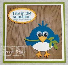 Blue Bird punch art card