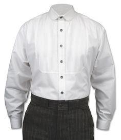 The Sinclair is the quintessential turn-of-the-century men's shirt, with the distinctive rounded club collar that is so difficult to find in modern times. This style of shirt was nearly universal in men's fashion in the late 1800's and early 1900's.