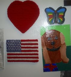 Make a Fourth of July cross stitched magnet.