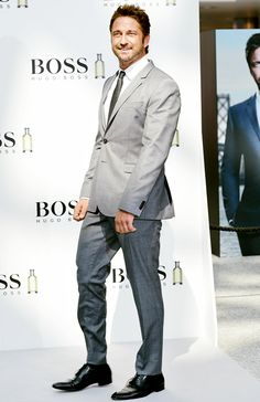 Gerard Butler is announced as the new brand ambassador for Boss and Boss Bottled in London @nicoleshine was here!!!! :D