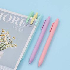 Gel Ink Pens, Macarons, Color Black, Packing, Pure Products, Eye Painting, Kawaii Clothes, Bag Packaging, Macaroons