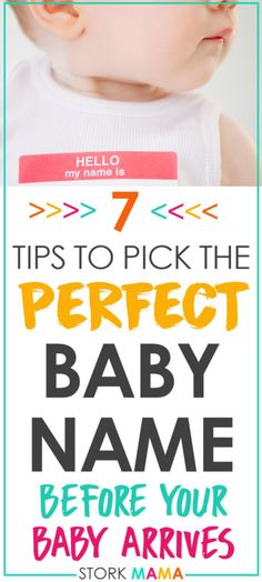 Have you found the perfect baby name? If your are overwhelmed with choice or looking for a unique baby name these tips will help you. You'll find the perfect name for your baby before they arrive. How to Pick a Baby Name When You're Pregnant   Stork Mama