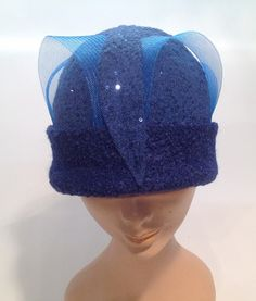 66af2ea95c5 Jersey Cooked Cloche with Applications and Crinoline - Atelier Alberto  Lusona
