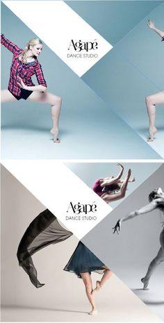 Diseño editorial. Fotografía + Isologotipo. Corte ortogonales que acompañan el movimiento de la figura humana.: