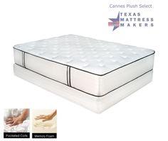 Texas Mattress Makers - Cannes Plush Select Mattress, $1,649.00 Queen Set  (http://www.texasmattressmakers.com/cannes-plush-select-mattress/)