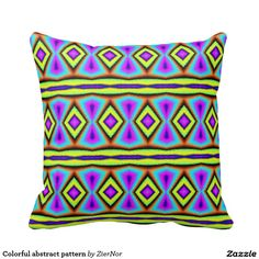Colorful abstract pattern pillows