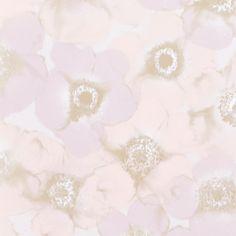 Mimou Windflower kukkatapetti koostuu käsinmaalatuista kukista.