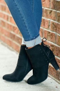9c77a9f04 Stepping It Up Suede Booties - Black