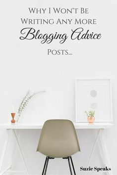 Have we reached the saturation point with blogging advice posts?