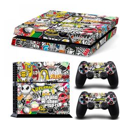 Cheap graffiti sticker, Buy Quality graffiti bombe directly from China graffiti sticker bomb Suppliers: Bomb Graffiti For Vinyl Skin Sticker Cover For Playstation 4 Console + 2 Controller Decal Game Accessories Mode Geek, Playstation Consoles, Ps3, Ps4 Skins, Sticker Bomb, Gaming Accessories, Accessories Online, Graffiti Styles, Ps4 Controller