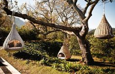 Unique and Cosy Standing and Hanging Lounger Design Ideas for Outdoor Garden Furniture, Nestrest by Dedon - California's Home, Design and Gifts Market on California Markt Outdoor Loungers, Outdoor Seating, Outdoor Spaces, Outdoor Living, Backyard Seating, Outdoor Swings, Garden Swings, Nice Backyard, Garden Hammock