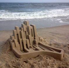 Mind-blowing Geometric Sandcastles by Calvin Seibert – Fubiz Media