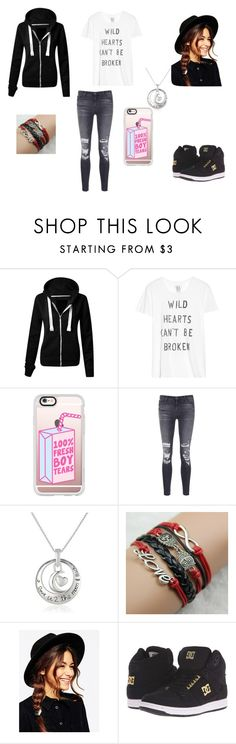 """""""Heart Breaker"""" by the-demons-walk ❤ liked on Polyvore featuring Zoe Karssen, Casetify, J Brand, ASOS and DC Shoes"""