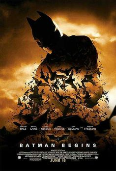 BATMAN BEGINS - After training with his mentor, Batman begins his war on crime to free the crime-ridden Gotham City from corruption that the Scarecrow and the League of Shadows have cast upon it.