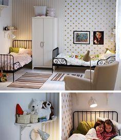 Ikea Shared Kids Room Łóżko piętrowe jerry z biurkiem i pojemnikiem na pościel / jerry