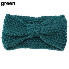 Crochet Bow Knot Knitted Head Wrap / Hairband