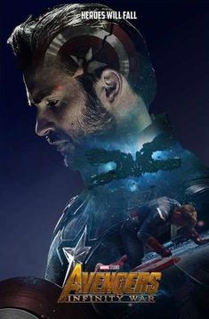 Avengers Infinity War Movie Character Poster 2018 Featuring Captain America, Check Out the Infinity War Trailer Breakdown and Missed Details - DigitalEntertainmentReview.com