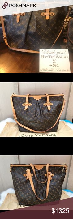 Louis Vuitton Palermo GM Authentic Louis Vuitton Palermo GM made in France 🇫🇷 2009 $1325  🦋 Vachetta is a beautiful honey color with normal signs of wear 🦋 no marks or cracks on canvas 🦋 very minor rubs in the corners, NO pipings exposed 🦋 Inside is immaculate  🦋 smoke free, no bad smell 🦋 comes with dust bag 🦋 Date Code MI4039 Louis Vuitton Bags Shoulder Bags