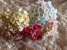 5 Bouquets Vintage Millinery Flowers Forget by homesteadtreasures, $11.50