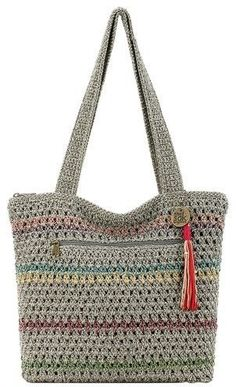 THE SAK Riveria Striped Tote Handbag 2400938761967