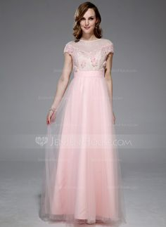 Prom Dresses - $139.99 - A-Line/Princess Off-the-Shoulder Floor-Length Tulle Lace Prom Dress With Beading Flower(s) Sequins (018044993) http://jenjenhouse.com/A-Line-Princess-Off-The-Shoulder-Floor-Length-Tulle-Lace-Prom-Dress-With-Beading-Flower-S-Sequins-018044993-g44993