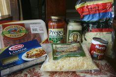 Recipe Shoebox: Crockpot Lasagna using Alfredo Sauce instead of Ricotta.