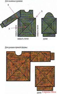 Доброго времени суток! Хочу поделиться интересным материалом о том, как научиться связать свитер или джемпер с помощью вывязывания геометрических фигур.