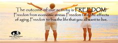 The outcome of our activity is FREEDOM!!!