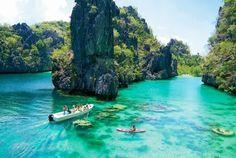 Лагуна острова Эль-Нидо, Филиппины.