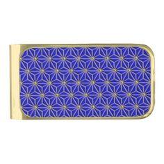 Gold star, money clip.
