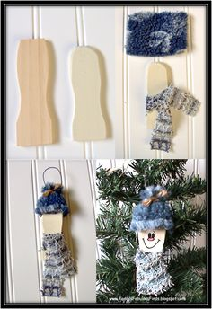 Today's Fabulous Finds: Paint Stick Snowman {Tutorial}