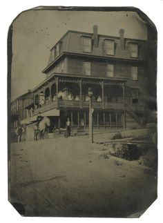 Tintype of the Lake Hotel, So. Fork, Pa. This area was adjacent to Sidman, where the 1889 Johnstown Flood began.