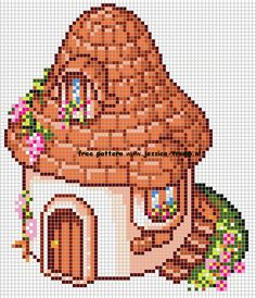 borduren kruissteekpatronen huizen cross-stitching houses